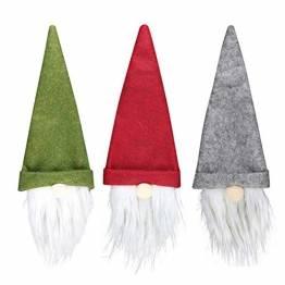SENLUO Weinflaschen-Abdeckung, klassische gesichtslose Weihnachtsmann-Geschenktüten, aktualisierte Weihnachtstischdekoration für Urlaubsparty-Dekoration (3 verschiedene Farben) - 1