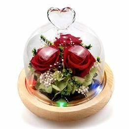 StillCool Ewige Rose, handgemachte frische Blume Rose mit schönen kreativen Herzen Design EIN Geschenk für Valentinstag Muttertag Weihnachten Jubiläum Geburtstag Thanksgiving - 1
