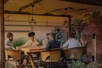 SUNTEC Infrarot-Heizstrahler mit Fernbedienung | Heat Patio 2000 Carbon Wärmestrahler für Terrasse | Outdoor Terrassenheizer für Balkon, Garten max. 2000 Watt Infrarotstrahler Strahlwasser-Schutz - 2