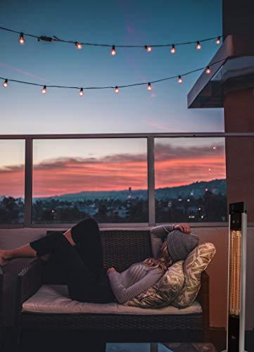 SUNTEC Infrarot-Heizstrahler mit Fernbedienung | Heat Patio 2000 Carbon Wärmestrahler für Terrasse | Outdoor Terrassenheizer für Balkon, Garten max. 2000 Watt Infrarotstrahler Strahlwasser-Schutz - 3