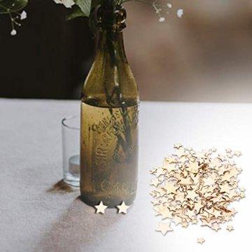 SUPVOX 200 Stücke Holzsterne Holzscheiben Baumscheiben Naturholzscheiben für Weihnachtsbaum Anhänger Hochzeit Basteln DIY Baumschmuck Holz Streudeko Tischdeko Weihnachtsdeko (Stern) - 7