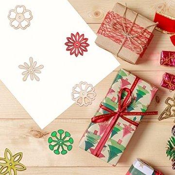 SUPVOX 50 Stücke Holzscheiben Blumen Scheiben Baumscheiben Naturholzscheiben für Weihnachtsbaum Anhänger Hochzeit Basteln DIY Baumschmuck Holz Streudeko Tischdeko Weihnachtsdeko (Mischmuster) - 8