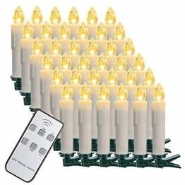 SZILBZ 30Stk Weihnachten LED Kerzen Lichterkette Weihnachtsbaumkerzen weihnachtskerzen Christbaumkerzen mit Fernbedienung Kabellos - 1