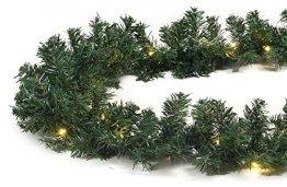 Tannengirlande mit Lichterkette grün 8,1 m mit 120 LED beleuchtet, künstliche Tannengirlande, Weihnachtsbeleuchtung außen - 1