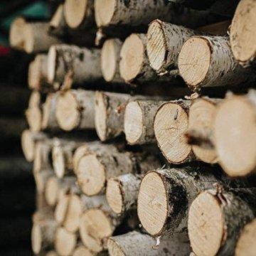 Teelichthalter aus Birken-Holz 3er Set | Kerzenhalter Holz-Deko Windlicht Weihnachtsdeko | Tisch-Deko Hochzeits Deko Teelicht | 3er Set 10, 12 & 14cm - 4