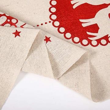 Tischläufer, Bestickte Weihnachtstischwäsche Tischdecke Weihnachtstischläufer Lange Tischdecke für Familienabendessen, Weihnachtsfeiern, Partys drinnen oder draußen(Fünfzackige Stern-Schneeflocke) - 5