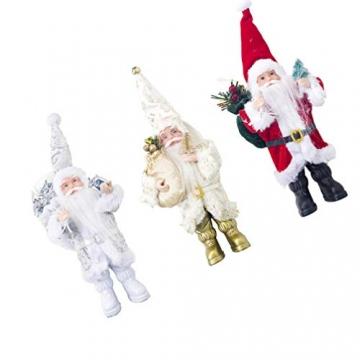 TOYANDONA Weihnachtsmann-Figur, klein, dekoratives Handwerk für Restaurant, Zuhause, Büro, 1 Stück (Gold/Silber/Rot) - 3