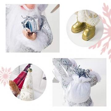 TOYANDONA Weihnachtsmann-Figur, klein, dekoratives Handwerk für Restaurant, Zuhause, Büro, 1 Stück (Gold/Silber/Rot) - 4