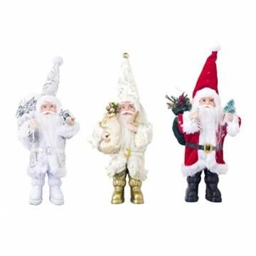 TOYANDONA Weihnachtsmann-Figur, klein, dekoratives Handwerk für Restaurant, Zuhause, Büro, 1 Stück (Gold/Silber/Rot) - 1