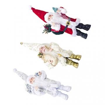TOYANDONA Weihnachtsmann-Figur, klein, dekoratives Handwerk für Restaurant, Zuhause, Büro, 1 Stück (Gold/Silber/Rot) - 5