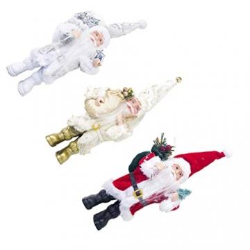 TOYANDONA Weihnachtsmann-Figur, klein, dekoratives Handwerk für Restaurant, Zuhause, Büro, 1 Stück (Gold/Silber/Rot) - 6