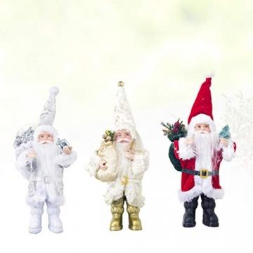 TOYANDONA Weihnachtsmann-Figur, klein, dekoratives Handwerk für Restaurant, Zuhause, Büro, 1 Stück (Gold/Silber/Rot) - 8