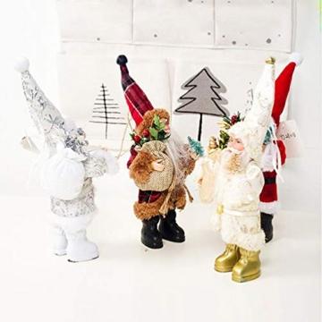 TOYANDONA Weihnachtsmann-Figur, klein, dekoratives Handwerk für Restaurant, Zuhause, Büro, 1 Stück (Gold/Silber/Rot) - 9