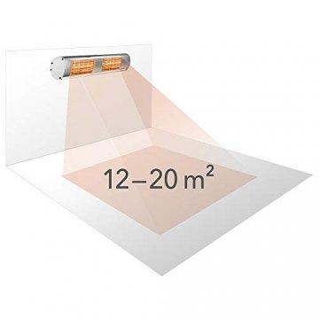 TROTEC Infrarot Heizstrahler IR 3050 Heizstrahler IR-Gastro-Bar Quarzstrahler Terrassenheizer, Infrarot, Infrarotwärme ohne Vorheizen, IR-Fernbedienung - 5