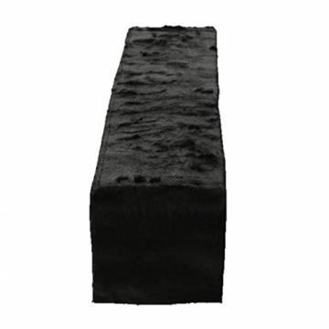 Unbekannt 1x Tischläufer Felly Fell Länge 120 cm schwarz, Tischdeko, Geschenk, Wunschmodell:rechts - 1