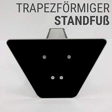 VASNER HeatTower Stand-Heizstrahler 2500 W, 4 Stufen Dimmer, Infrarotstrahler Standgerät, Terrassenstrahler mit Standfuß, Fernbedienung, elektrisch, IP65 Terrasse, schwarz - 5