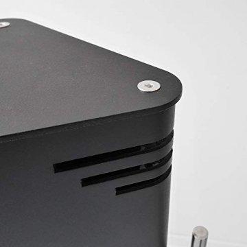 VASNER HeatTower Stand-Heizstrahler 2500 W, 4 Stufen Dimmer, Infrarotstrahler Standgerät, Terrassenstrahler mit Standfuß, Fernbedienung, elektrisch, IP65 Terrasse, schwarz - 6