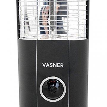 VASNER StandLine 23R Infrarot Heizstrahler Standgerät 2300 Watt 4 Stufen Dimmer Fernbedienung Stand-Heizstrahler Terrassenstrahler elektrisch Infrarotstrahler Standfuß (Schwarz) - 5