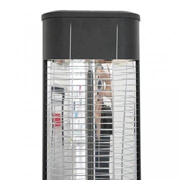 VASNER StandLine 23R Infrarot Heizstrahler Standgerät 2300 Watt 4 Stufen Dimmer Fernbedienung Stand-Heizstrahler Terrassenstrahler elektrisch Infrarotstrahler Standfuß (Schwarz) - 6