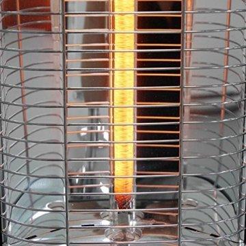 VASNER StandLine 23R Infrarot Heizstrahler Standgerät 2300 Watt 4 Stufen Dimmer Fernbedienung Stand-Heizstrahler Terrassenstrahler elektrisch Infrarotstrahler Standfuß (Schwarz) - 8