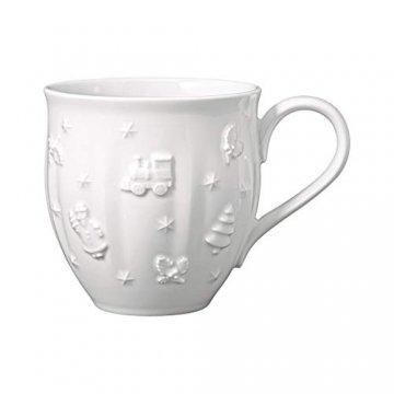 Villeroy und Boch - Toy's Delight Royal Classic Becher mit Henkel, große Tasse mit Reliefmuster, Premium Porzellan, 0,5 L, weiß - 1