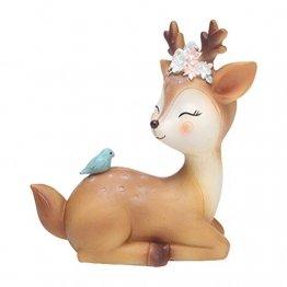 VOSAREA Rentier Figur Elch Hirsch Figur Weihnachten Tierfigur Dekofigur Weihnachtsfigur Xmas Party Deko Tischdeko Winterdeko Weihnachtsdeko (Meditinenmuster) - 1