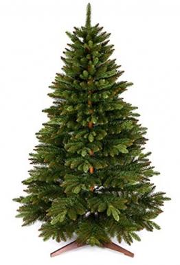 Weihnachtsbaum künstlich 180cm – Naturgetreu, Besonders dichte Zweige, einfacher Aufbau, Made in EU - Premium Christbaum mit Holzständer, Aufbewahrungstasche – Edle Nordmanntanne von Pure Living - 1
