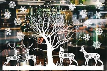 Weihnachtsdeko Fenster, Weihnachten Fensterbilder, Weihnachten Fenstersticker Fensteraufkleber PVC Fensterdeko Selbstklebend, für Türen Schaufenster Vitrinen Glasfronten Deko - 3