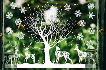 Weihnachtsdeko Fenster, Weihnachten Fensterbilder, Weihnachten Fenstersticker Fensteraufkleber PVC Fensterdeko Selbstklebend, für Türen Schaufenster Vitrinen Glasfronten Deko - 5