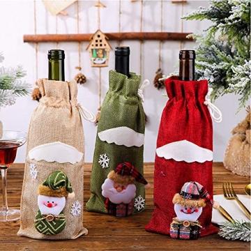 Weihnachtspullover-Weintüten, wiederverwendbar, Weinflaschen-Geschenktüte, Dekoration, Weinabdeckung, Weihnachtstischdekoration für Weihnachtsparty - 2