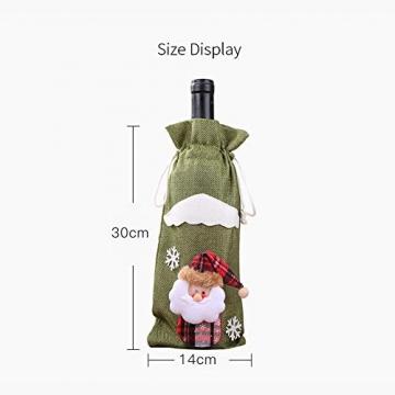 Weihnachtspullover-Weintüten, wiederverwendbar, Weinflaschen-Geschenktüte, Dekoration, Weinabdeckung, Weihnachtstischdekoration für Weihnachtsparty - 4