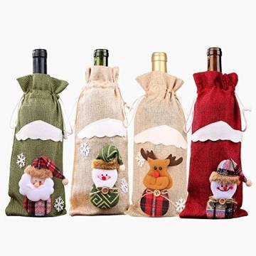 Weihnachtspullover-Weintüten, wiederverwendbar, Weinflaschen-Geschenktüte, Dekoration, Weinabdeckung, Weihnachtstischdekoration für Weihnachtsparty - 1