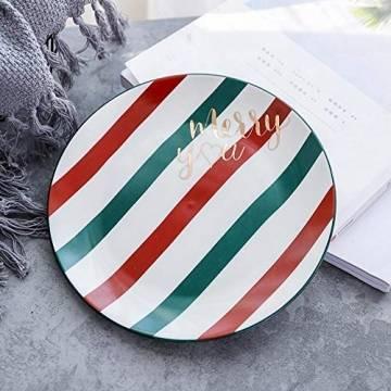 Weihnachtstasse mit Golddruck, hochwertige Keramiktasse für Zuhause, Büro, Weihnachtsgeschirr-Set (rot und grün) - 1