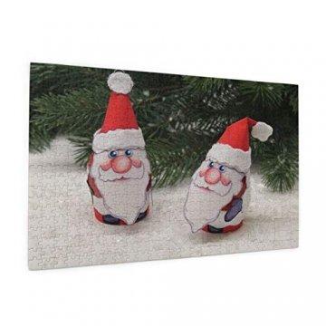 Weißer Weihnachtsbaum Adventsdeko Schneemann Heiliger Weihnachtsmann 520 Teile Bildpuzzles Spaß Kreative Geschenke für Kinder Erwachsene zum Geburtstag Weihnachten - 2