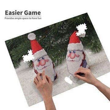 Weißer Weihnachtsbaum Adventsdeko Schneemann Heiliger Weihnachtsmann 520 Teile Bildpuzzles Spaß Kreative Geschenke für Kinder Erwachsene zum Geburtstag Weihnachten - 4