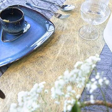 WELTRXE Tischläufer, Wiederverwendbaren Dekostoff aus Polyesterfabern Sicherer Tischband in Vielen Farben zur Dekoration 23cm × 5m Golden Hochzeit Tischdeko auch Ostern Festival Geschenkband - 6