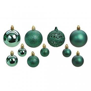 WOMA Christbaumkugeln Set in 14 weihnachtlichen Farben - 50 & 100 Weihnachtskugeln Grün aus Kunststoff - Gold, Silber, Rot & Bronze/Kupfer UVM. - Weihnachtsbaum Deko & Christbaumschmuck - 4