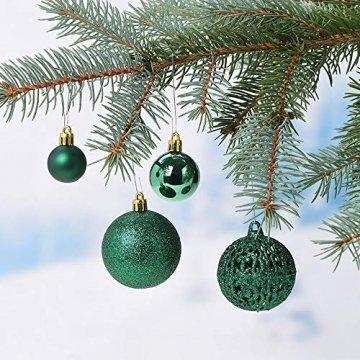 WOMA Christbaumkugeln Set in 14 weihnachtlichen Farben - 50 & 100 Weihnachtskugeln Grün aus Kunststoff - Gold, Silber, Rot & Bronze/Kupfer UVM. - Weihnachtsbaum Deko & Christbaumschmuck - 5