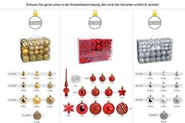 WOMA Christbaumkugeln Set in 14 weihnachtlichen Farben - 50 & 100 Weihnachtskugeln Grün aus Kunststoff - Gold, Silber, Rot & Bronze/Kupfer UVM. - Weihnachtsbaum Deko & Christbaumschmuck - 6