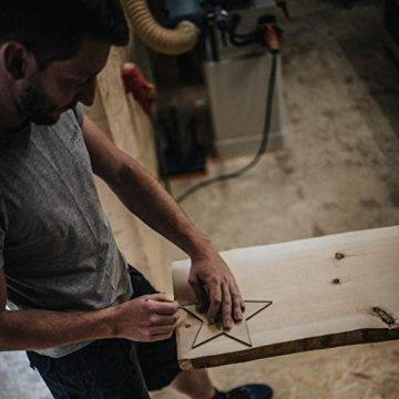 Woods Holzstern Zirbe - Dekoration aus Holz handgefertigt in Bayern I Holzstern zum hinstellen - gemütliche Advent & Weihnachtsdeko für Fenster Flur Tür & Co I Holzstern groß 12, 16 oder 21 cm - 3