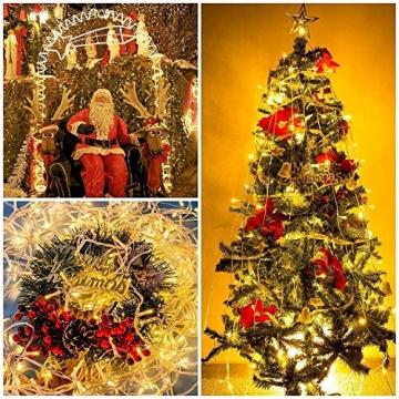 WOWDSGN 20M 200 LEDs Lichterkette, Warmweiß, 8 Leuchtmodi Dimmbar, Strombetrieben mit EU Stecker, IP44 Wasserdicht, Lichterkette für Party, Feier, Hochzeit, Weihnachtsbeleuchtung für Innen und Außen - 6