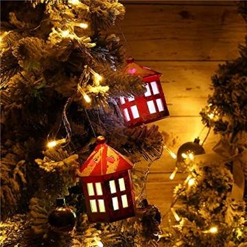 WOWDSGN 20M 200 LEDs Lichterkette, Warmweiß, 8 Leuchtmodi Dimmbar, Strombetrieben mit EU Stecker, IP44 Wasserdicht, Lichterkette für Party, Feier, Hochzeit, Weihnachtsbeleuchtung für Innen und Außen - 7