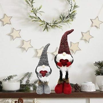 Wyi Weihnachtswichtel, handgefertigt, schwedischer Tomte, Weihnachtself, Dekoration, Ornamente, Kinder-Geburtstagsgeschenk, handgefertigte Weihnachtspuppe, Heimdekoration, Weihnachtsmann-Figuren - 4