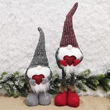 Wyi Weihnachtswichtel, handgefertigt, schwedischer Tomte, Weihnachtself, Dekoration, Ornamente, Kinder-Geburtstagsgeschenk, handgefertigte Weihnachtspuppe, Heimdekoration, Weihnachtsmann-Figuren - 5