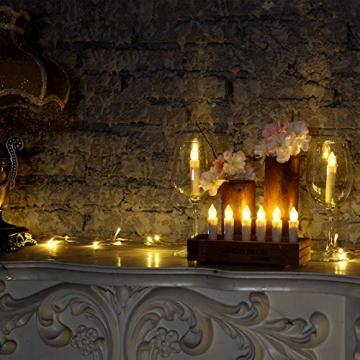 Yorbay 20er kabellose LED Kerzen Weihnachtsdeko IP64 wasserdicht RGB&Warmweiß mit Batterien, Dimmbar mit Fernbedienung und Timerfunktion, als Dekoration für Weihnachten, Weihnachtsbaum (Mehrweg) - 2