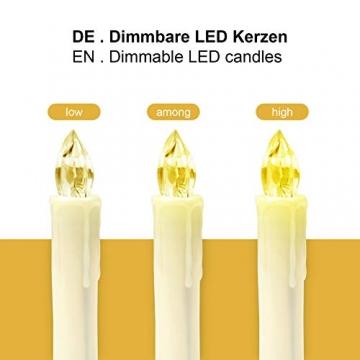 Yorbay 20er kabellose LED Kerzen Weihnachtsdeko IP64 wasserdicht RGB&Warmweiß mit Batterien, Dimmbar mit Fernbedienung und Timerfunktion, als Dekoration für Weihnachten, Weihnachtsbaum (Mehrweg) - 6