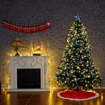 Yorbay 20er kabellose LED Kerzen Weihnachtsdeko IP64 wasserdicht RGB&Warmweiß mit Batterien, Dimmbar mit Fernbedienung und Timerfunktion, als Dekoration für Weihnachten, Weihnachtsbaum (Mehrweg) - 8