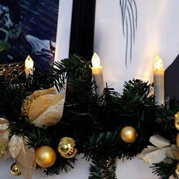 Yorbay 20er kabellose LED Kerzen Weihnachtsdeko IP64 wasserdicht RGB&Warmweiß mit Batterien, Dimmbar mit Fernbedienung und Timerfunktion, als Dekoration für Weihnachten, Weihnachtsbaum (Mehrweg) - 9