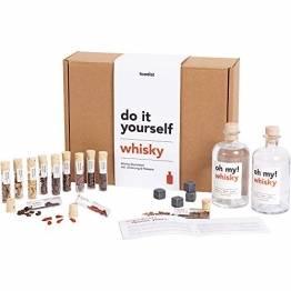 Foodist Whisky Infusion Baukasten   Geschenk mit Ansatzalkohol 40%   12 hochwertige Botanicals & Holzchips   DIY Kit   Whiskey Set mit Steinen zum Experimentieren für Männer und Frauen inkl. Rezepte - 1