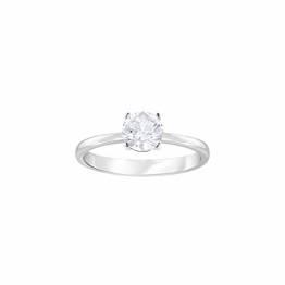 Swarovski Attract Ring, Weißer, Rhodinierter Damenring mit Funkelndem Swarovski Kristall - 1